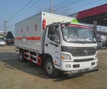 福田欧马可6.9吨5.1米杂项危险物品厢式运输车