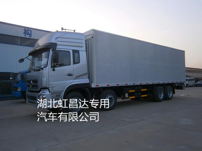 东风天龙前四后八16.555吨9.6米翼开启厢式车