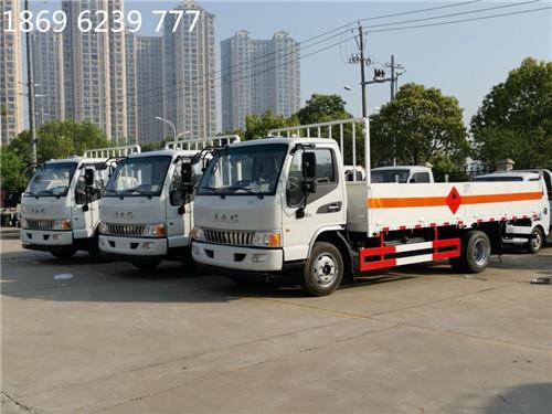 江淮5.165吨5.05米仓栏平板气瓶运输车