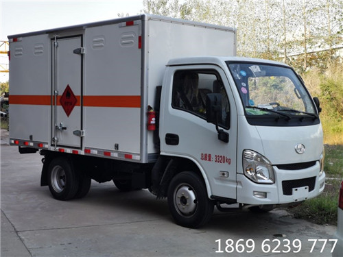 跃进小福星1.12吨3.4米国六易燃气体厢式运输车
