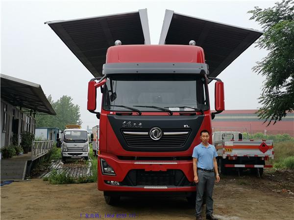客户案例 来厂自提东风天龙国六9.6米飞翼车1台