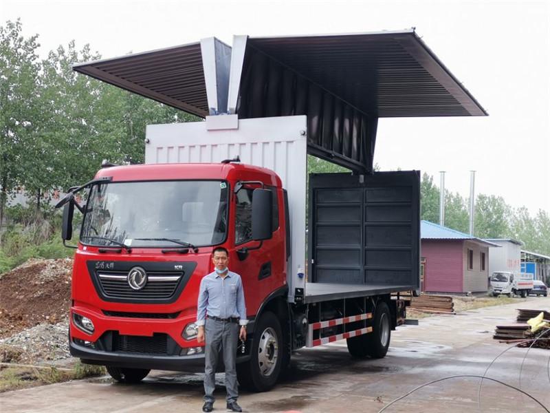 东风天锦7.7米,8.3米,9.8米国六飞翼车