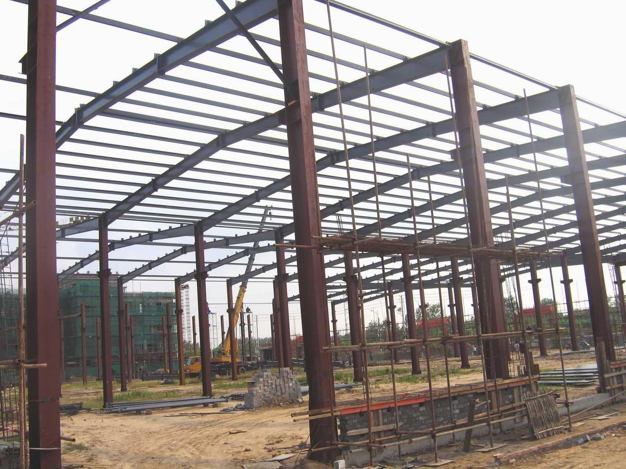 北晨陶瓷-车间钢结构厂房