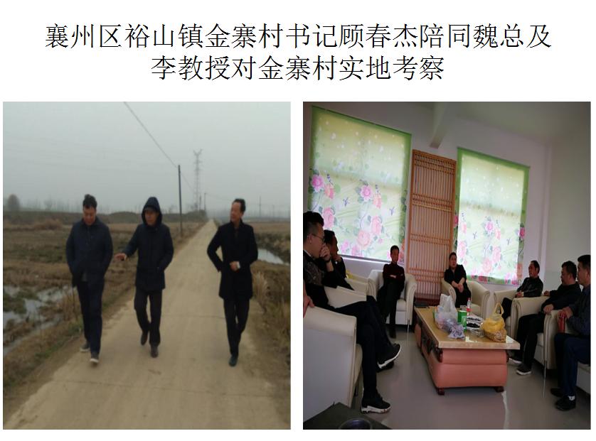 李教授對金寨村實地考察