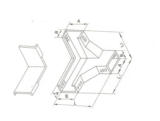 槽式下角垂直三通 XQJ-C-03G