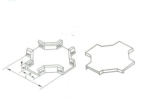 槽式水平四通 XQJ-C-004A