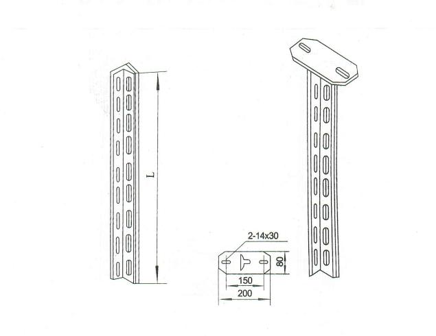 角鋼立柱 XQJ-H-01D