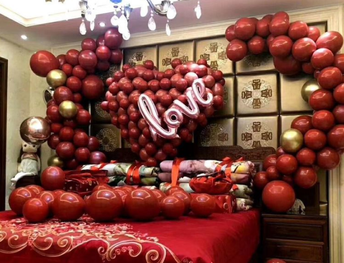 婚房气球装饰