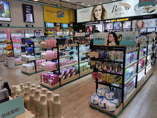 化妆品店货架