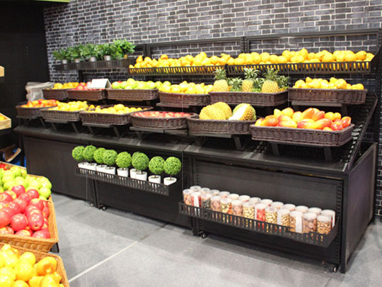 生鲜超市蔬果货架