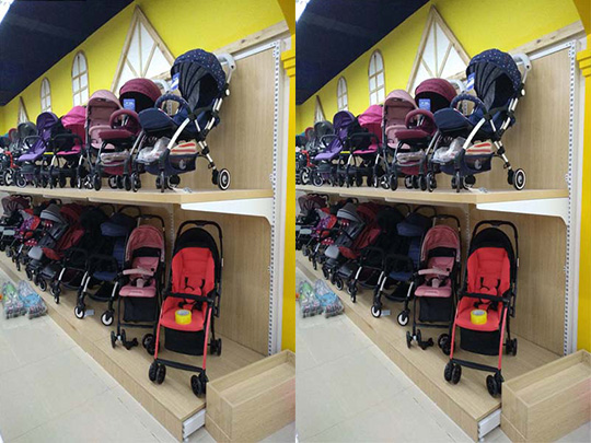 昆明母婴店钢木货架