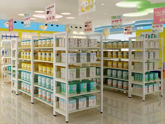 母婴店奶粉货架