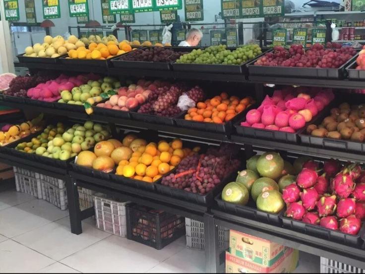云南超市蔬果货架