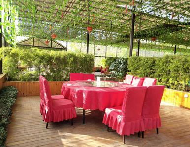 园林餐厅环境