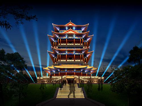 白鹤塔照明工程