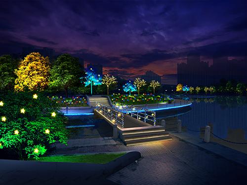 公园灯光秀