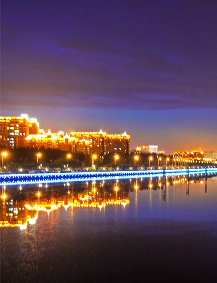 长春新民大街沿街建筑和景观照明