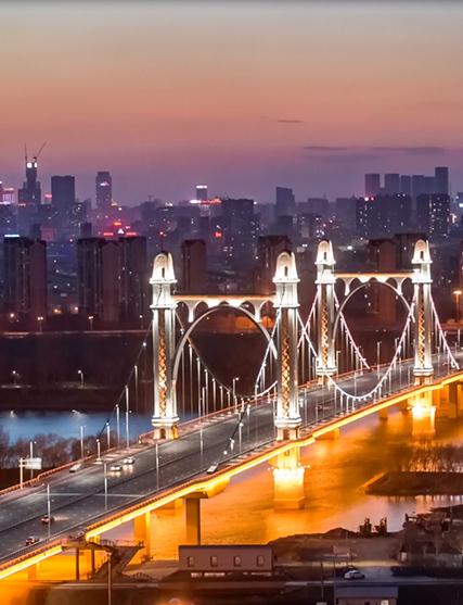 沈阳东塔桥建筑景观照明