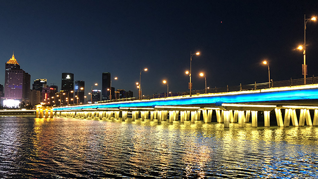 一河两岸景观楼体亮化