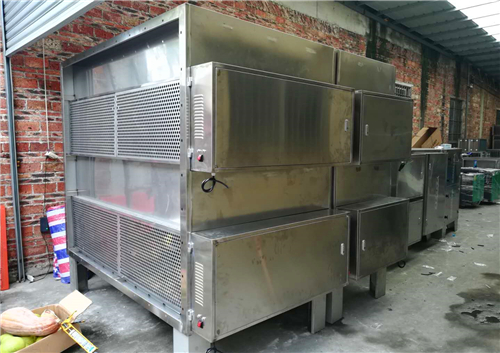 广东某生物公司在我司订购的工业湿式烟气处理设备安装调试成功