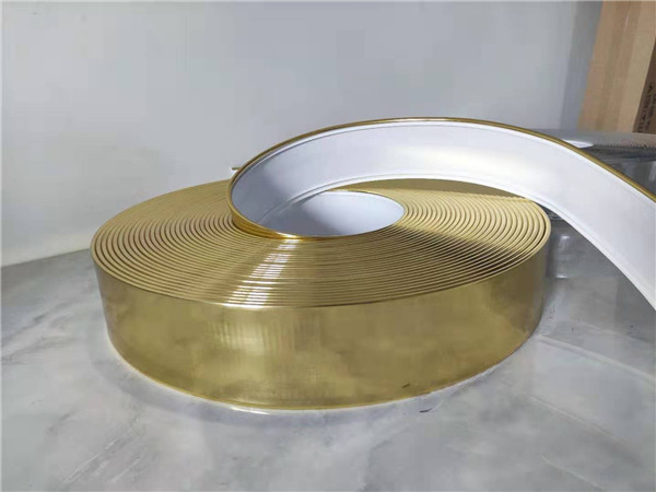 Golden rubber and plastic stripe