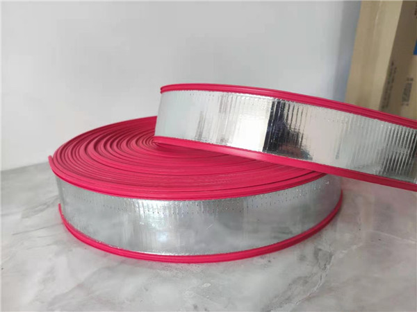 Red rubber and plastic edging