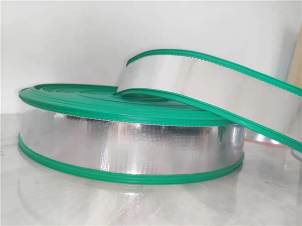 Green rubber and plastic edging