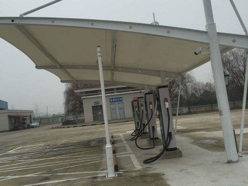 膜结构停车车棚