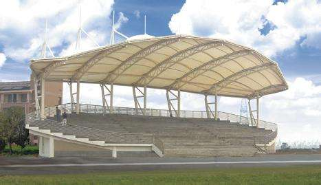 泳池膜结构看台