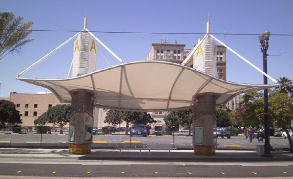 雨棚膜结构