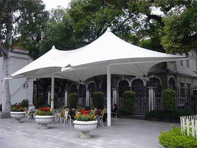 阳光房膜结构遮阳棚