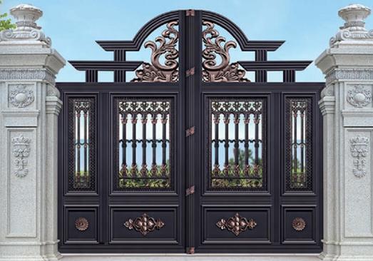 铝艺大门原材料的选择和旧门的拆出