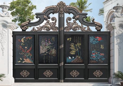 铝艺别墅大门的安装及注意事项