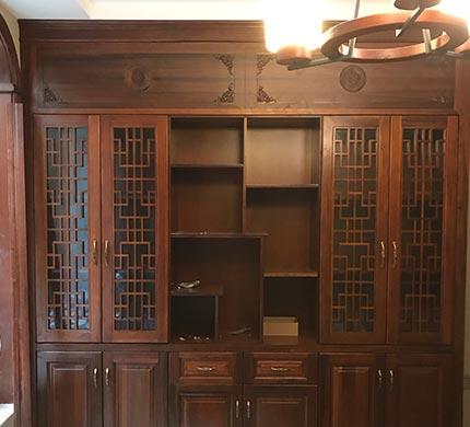 现代中式书柜定制