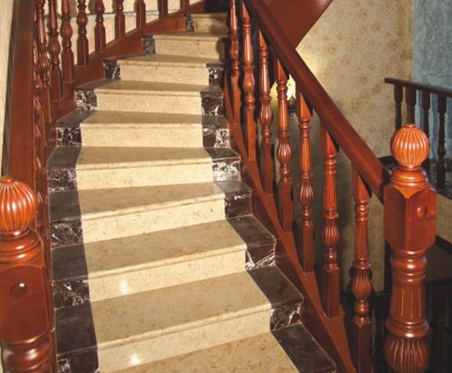 新中式原木楼梯定制