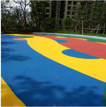 彩色透水路面铺装
