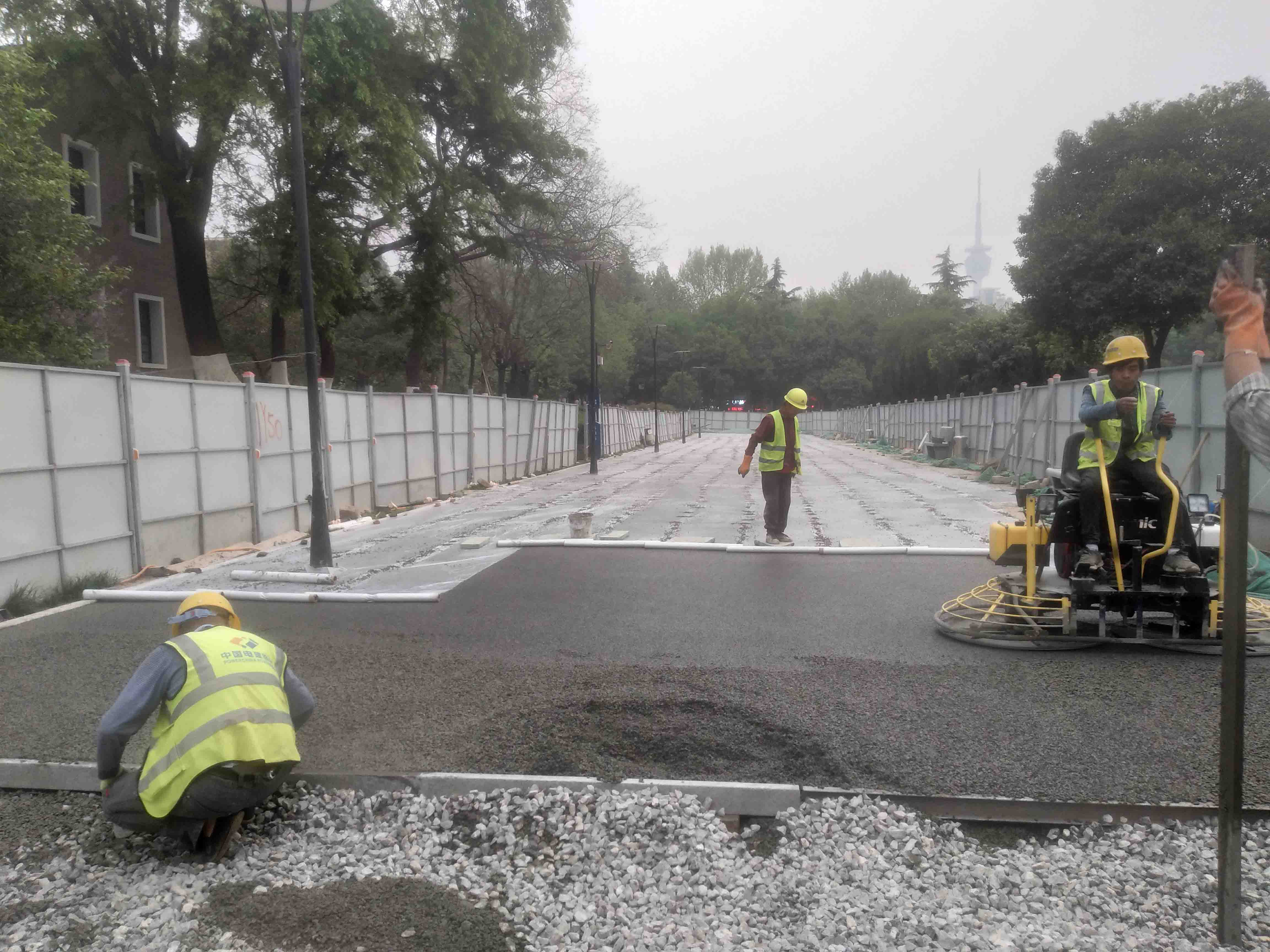 西安外国语学院透水路面改造工程