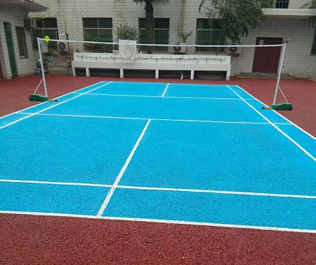 双成补习学院透水路面网球场