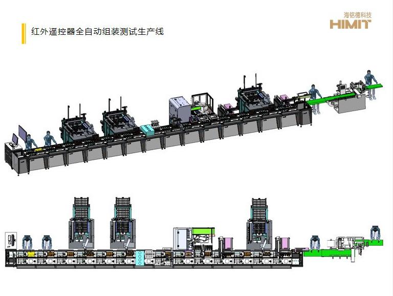 红外遥控器全自动组装测试生产线