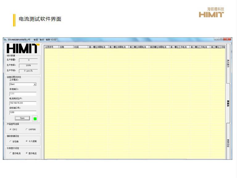 电流测试软件界面