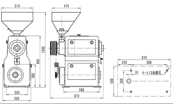 立式碾米机图片