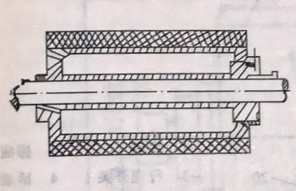 橡胶辊筒如何与轴安装