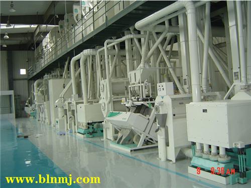 自动化大米生产流水线