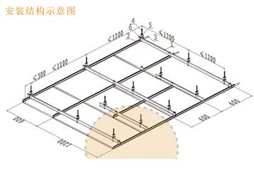 暗架系列铝合金矩形板