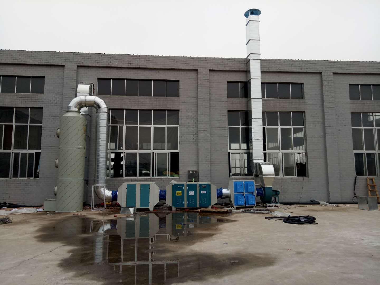 湖南寧鄉塑膠廠廢氣處理設備