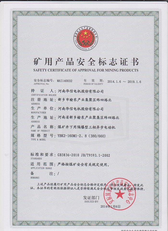 YBK2-160M1-2、8(380/660)