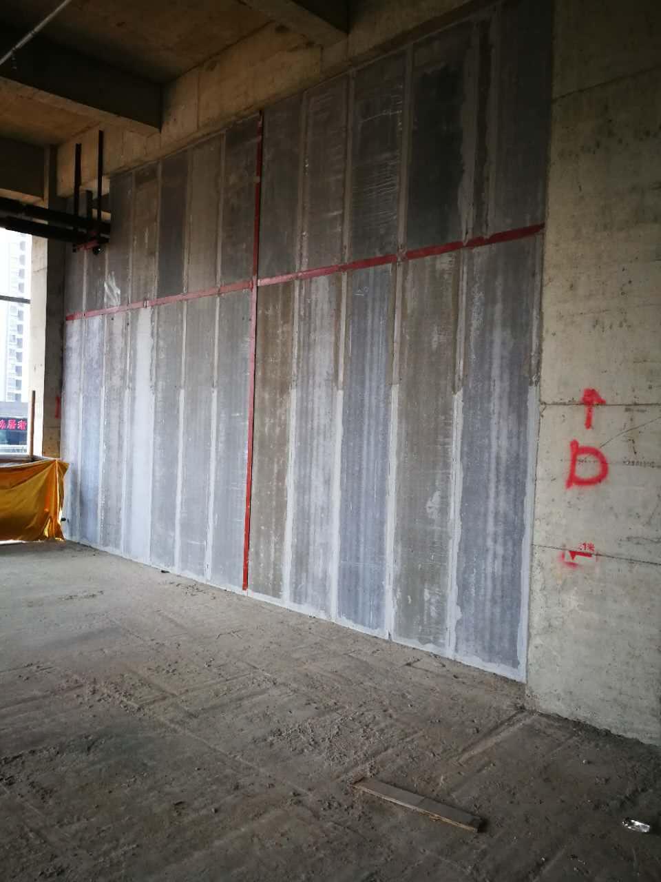 长沙轻质砖现场施工环境