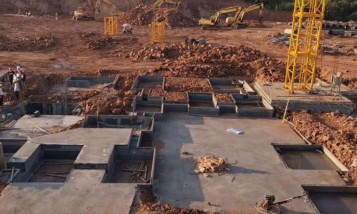 湖南六建集美雲湖磚胎膜項目
