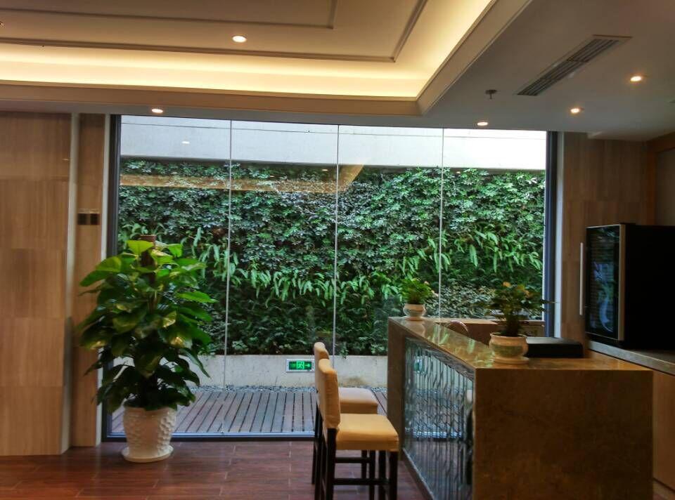 湘域熙岸会员中心植物墙设计施工