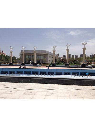 郑州大学音乐喷泉广场